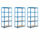 3x Garage 200kg Boltless Chipboard Shelving Special Offer Free Assembly Mallet